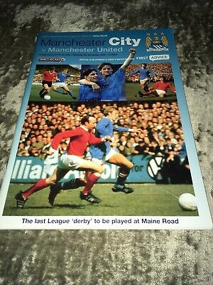 MANCHESTER CITY LAST DERBY AT MAINE ROAD PROGRAMME....Feed The Goat!!! Nov 2002