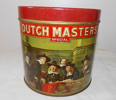 DUTCH MASTERS SPECIAL CCC CIGAR TIN VINTAGE FACTORY #6 12th DIST PA 50 TAX STAMP