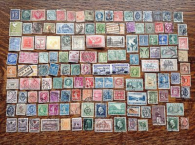 Collection Of Old European Stamps