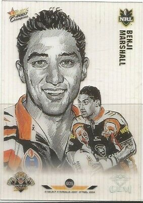 2007 Select Champions Gem  Benji Marshall West Tigers