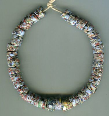 African Trade beads Vintage Venetian glass old recycled African sandcast