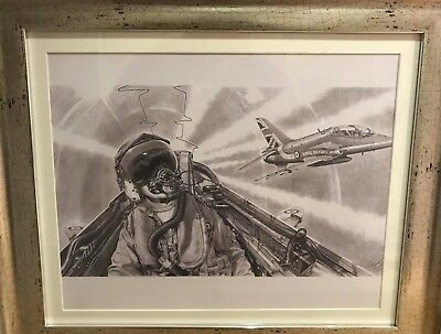 """Red arrows"""" from the cockpit""""Limited edition print"""