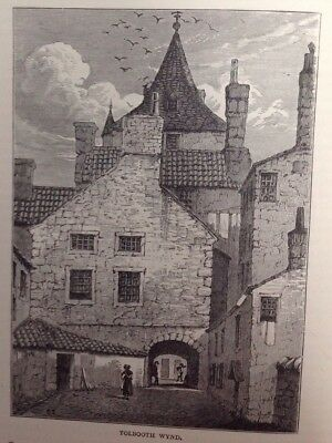 Edinburgh,  Tolbooth Wynd, 1880, Antique Print, Original