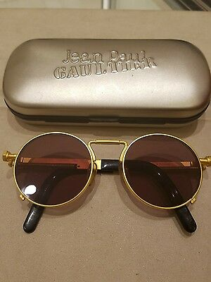 Vintage Jean Paul Gaultier #56-8171 Gold Sunglasses . Famous and Rare