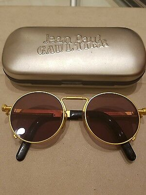98a83bddd43 Vintage Jean Paul Gaultier  56-8171 Gold Sunglasses.Excellent Condition.