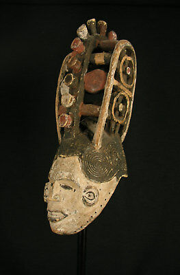 Igbo Maiden Spirit Mask, Authentic And Old