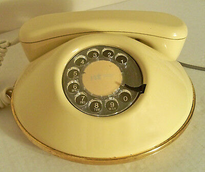 Vtg Mcm Hollywood Regency Eames Designer Dawn Rotary Telephone Nothern Telecom