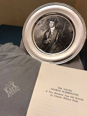 Vintage-Kirk Collection-AMERICAN-COLONIAL-SOLDIER-Sterling-Silver-Plates