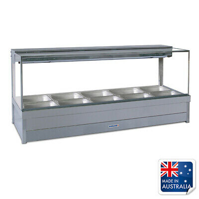 Bain Marie / Hot Food Display Square Double Row with 10x 1/2 Pans Roband S25