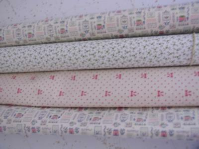 4 rolls Wallpaper Doll Houses Early American Floral Red Polka Dot Mini Graphics