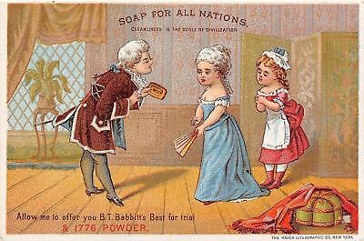BT Babbitt's Best~1776 Soap for All Nations~Colonials~Ladies Maid~1880s VTC