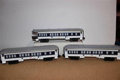 New Lionel New York Yankees 3 Car Passenger Set- Lighted- 0/027    Mint