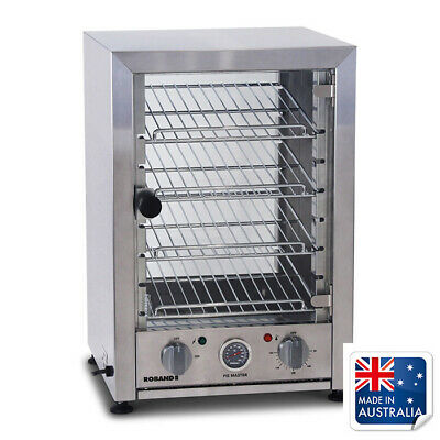 Hot Food Display Warmer 40 Pie Square Front Glass Roband PA40L Canteen Equipment