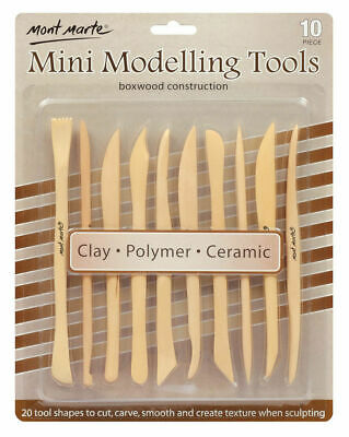 Mont Marte Sculpting - Mini Boxwood Modelling Tools 10pc