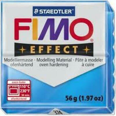 Fimo Effect Polymer Clay  - Translucent Blue No 374