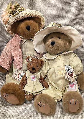 Boyd's Bears Plush Jocelyn Bloomengrows, Flora and Blossom Monarch Set of 3 NWT