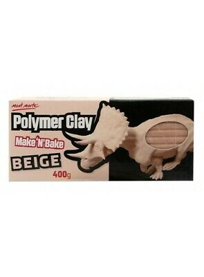 Mont Marte Make N Bake Polymer Clay 400g Block - Beige