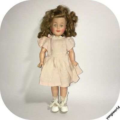 """Vintage Ideal Shirley Temple ST-12 12"""" Doll With Outfit Shoes Socks Lot"""