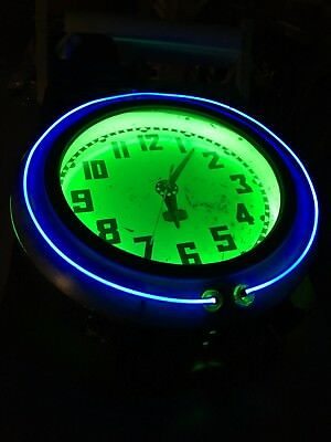 Original Electric Neon Clock Co Cleveland Neon Clock SURVIVOR CLOCK