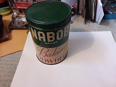 Vintage Nabob Brand Baking Powder Tin - 6 Inches - Vancouver, Canada