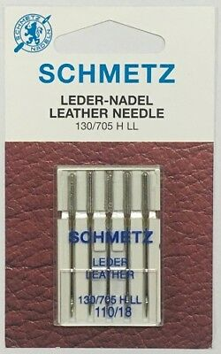 Schmetz Machine Needle - Leather 130/705 H LL 110/18