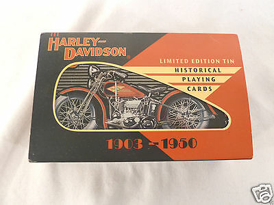 Harley Davidson Numbered Limited Edition Tin & Historical Playing Cards 1997