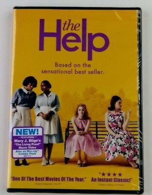 The Help DVD, 2011 Viola Davis, Emma Stone, Drama, Mary J Blige New Sealed (153)
