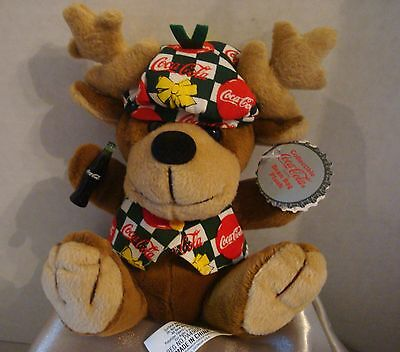 Vntg 1998 Coca-Cola Christmas Collectible  Plush Reindeer. NWT, Style #0168