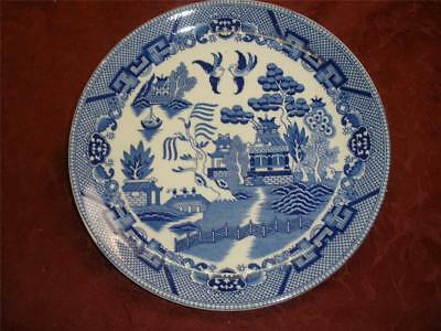 Retro Porcelain Blue Willow Dinner  Plate Ironstone Made In Japan