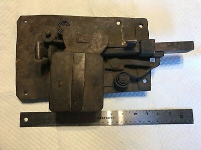 #1 - Antique Swedish Large Iron Door Lock Late 18th early 19th Century