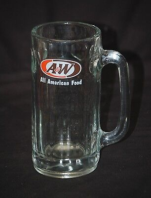 "Vintage Advertising A&W Root Beer All American Food Drinking Mug Glass 7"" Tall"