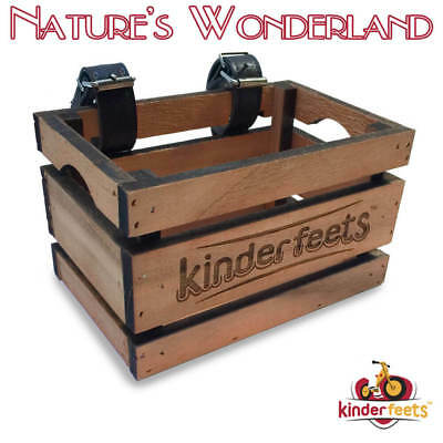 Retro WOODEN CRATE with Handlebar Straps -fits KINDERFEETS Tiny Tot Balance Bike