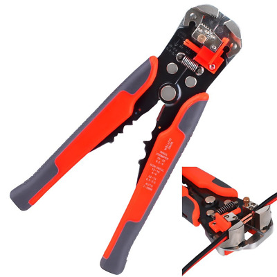 kuman 8 Inch Wire Stripper Self-Adjusting Automatic Cable Cutters Crimper Strand