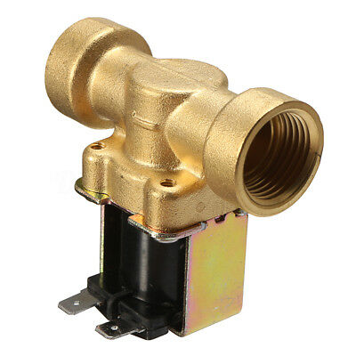 "220V 1/2"" 2-Way Normally Closed Brass Electric Solenoid Valve Air Water Valve"