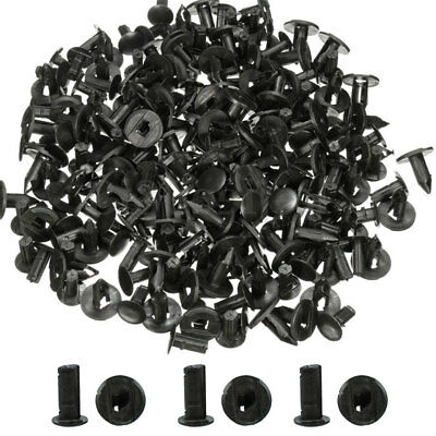 100pcs 8mm Plastic Push Rivets Car Door Fastener Trim Panel Retainer Clip Black