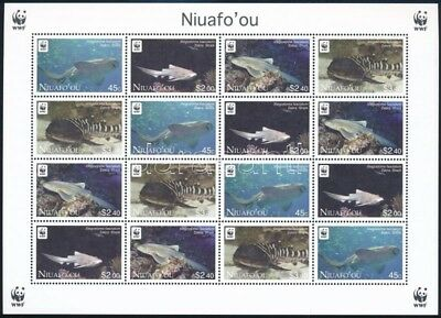 Niuafo-ou stamp WWF Zebra Shark mini sheet with 4 set MNH 2012 WS244728