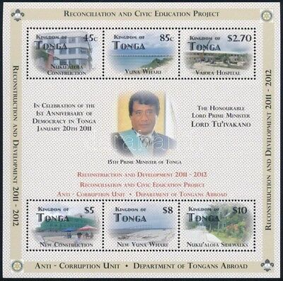 Tonga stamp Reconstruction and development, the first year of democracy WS244701