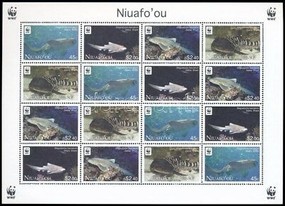 Niuafo-ou stamp WWF Zebra Shark mini sheet with 4 set MNH 2012 WS244730