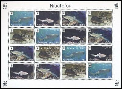 Niuafo-ou stamp WWF Zebra Shark mini sheet with 4 set MNH 2012 WS244731