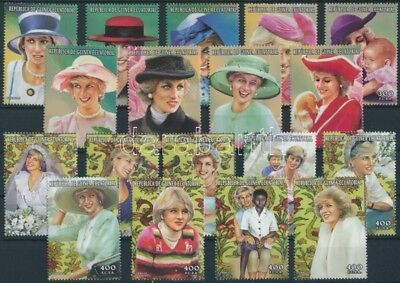 Guinea Equatorial stamp Anniversary of Diana's death set MNH 1997 WS245605
