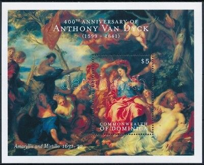 Dominica stamp Paintings block MNH 2000 Mi 401 WS245598