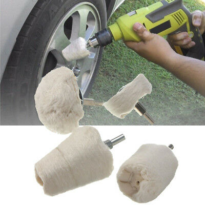 4Pcs Polishing Mop Wheels Buffing Pads Kit For Manifold Aluminum Stainless Steel