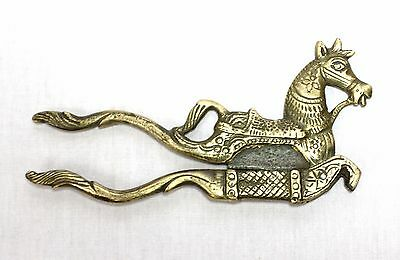 Indian Old Vintage Hand Carved Unique Brass Horse Shape Betel Nut Cutter Sarota
