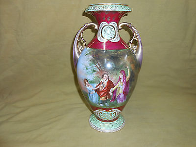 Royal Vienna Antique Two Handle Vase.