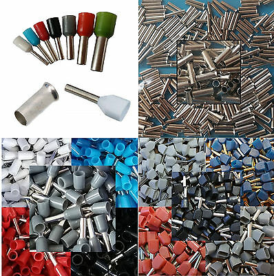 100 Piece Wire Ferrules Blacnk or Insulated or Twin