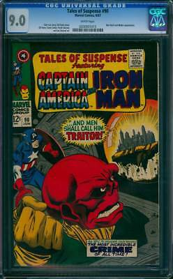 Tales of Suspense # 90  And Men Shall call him Traitor !  CGC 9.0  scarce book !