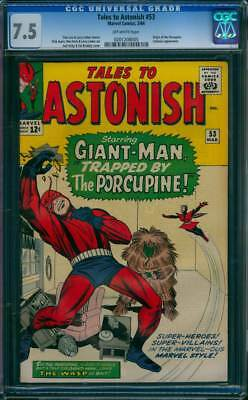 Tales to Astonish # 53  Trapped by the Procupine !  CGC 7.5  scarce book !