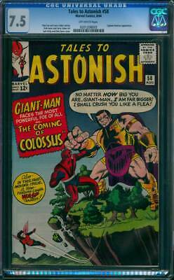Tales to Astonish # 58  The Coming of Colossus !  CGC 7.5  scarce book !