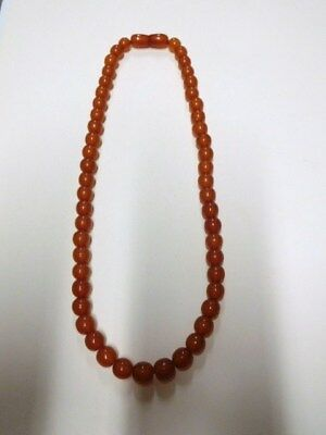 Vintage 70's Baltic Amber Necklace from Russia / USSR. Russian. 19 gr.