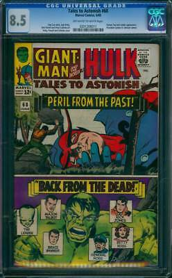 Tales to Astonish # 68  Peril From the Past !  CGC 8.5  scarce book !